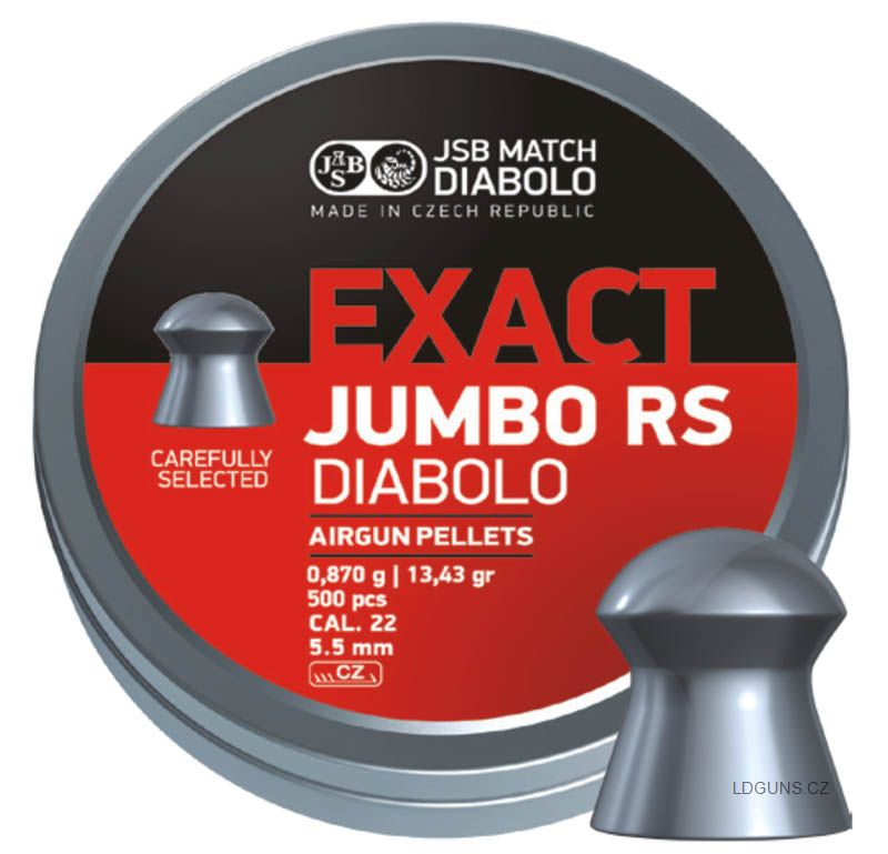 JSB Exact Jumbo RS 500ks cal. 5,52mm