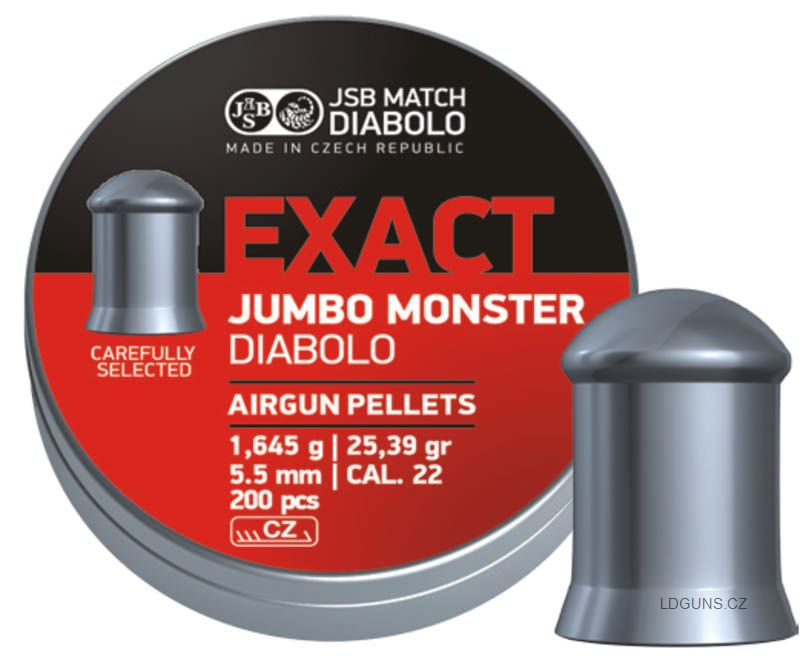 JSB Exact Jumbo Monster 200ks cal. 5,52mm