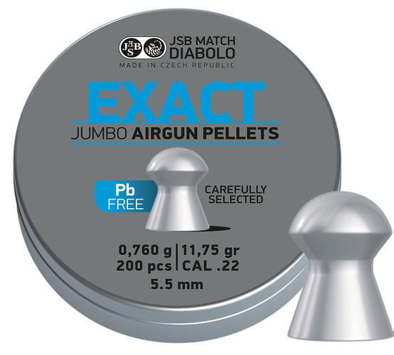 JSB Exact Jumbo Lead Free 200ks cal.5,5mm