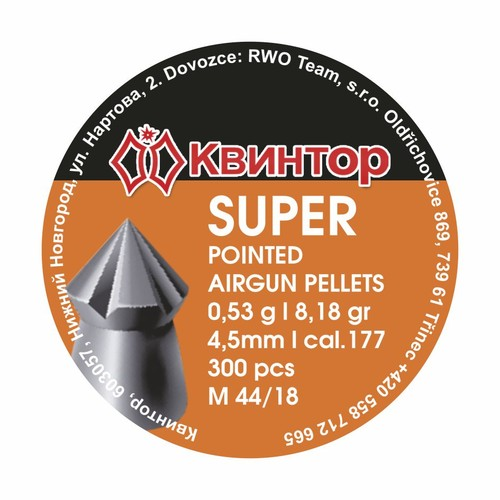 Kvintor Super Pointed cal.4,5mm 300ks